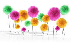 Fantasy Dandelion Trees Stock Photos
