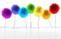 Fantasy Dandelion Trees Spectrum Stock Photos