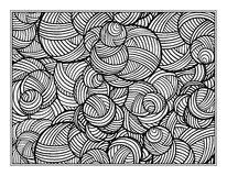 Fantasy decorative coloring page Royalty Free Stock Images