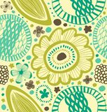 Fantasy decorative pattern. Abstract background with stylized flowers. Stock Image