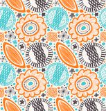 Fantasy decorative pattern in scandinavian style. Abstract background with stylized flowers. Royalty Free Stock Photography