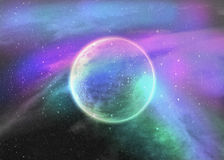Fantasy deep space nebula Royalty Free Stock Images