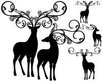 Fantasy deers vector Stock Images