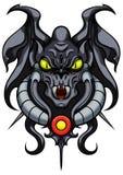 Fantasy demonic gargoyle emblem Stock Image