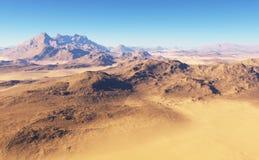 Fantasy desert landscape Stock Photo