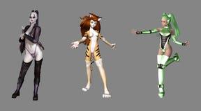 Fantasy Digital Characters Stock Photos