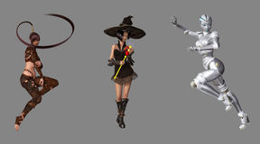 Fantasy Digital Characters royalty free illustration