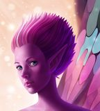 Fantasy digital illustration fairy in magic dust royalty free illustration