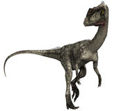 Fantasy dinosaur with a long tail. 3D render of a fantasy dinosaur with a long tail Stock Image