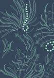 Fantasy doodle floral background Stock Image