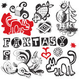 Fantasy doodles Royalty Free Stock Images