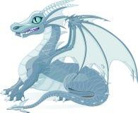 Fantasy Dragon. Vector illustration of a fantasy ice dragon stock illustration
