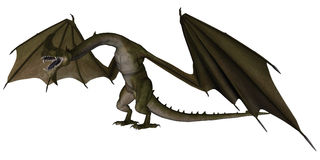 Fantasy dragon Royalty Free Stock Image