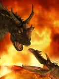 Fantasy Dragon. 3 D Render of an Fantasy Dragon stock illustration
