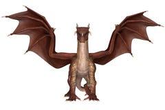 Fantasy Dragon. 3D rendered fantasy dragon on white background isolated stock illustration