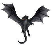 Fantasy Dragon. 3D rendered fantasy dragon on white background isolated Stock Photography