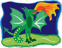 Fantasy Dragon Stock Images