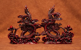 Fantasy Dragon Statue Book Ends Royalty Free Stock Photo