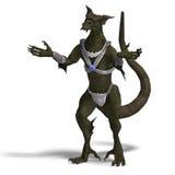 Fantasy Dragon Warrior Royalty Free Stock Photography