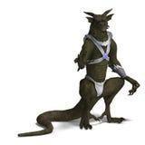 Fantasy Dragon Warrior Royalty Free Stock Photos