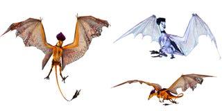 Fantasy dragons Stock Photos