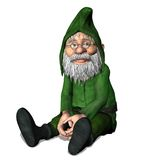 Fantasy dwarf 1. 3D render of a fantasy dwarf in a green suit Royalty Free Stock Photos