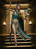 Fantasy Egyptian girl with a cobra staff Royalty Free Stock Photography