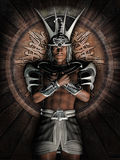 Fantasy Egyptian warrior Stock Photos