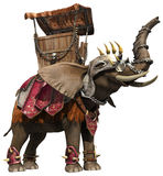 Fantasy elephant. 3D render of a fantasy elephant in an armor royalty free illustration