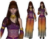 Fantasy Elf Poser. A set of three fantasy elf images Stock Images