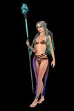 Fantasy elven female with magic staff Royalty Free Stock Image
