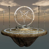 Fantasy Environment. High quality rendering of a fantasy type floating altar environment Royalty Free Stock Photography