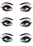 Fantasy eyes makeup Royalty Free Stock Images