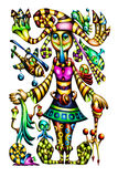 Fantasy fable for kids. Art work design own idea stock illustration
