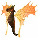 Fantasy Faerie Dragon Royalty Free Stock Photo