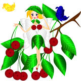 Fantasy fairy cherry Stock Image