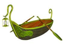 Fantasy fairy tale boat Royalty Free Stock Photography