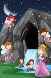 A fantasy fairytale land royalty free illustration