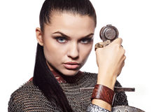 . Fantasy fashion idea. Royalty Free Stock Image