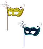 Fantasy fashion masks Stock Photos