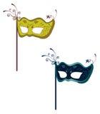Fantasy fashion masks. A illustration of fantasy fashion masks Stock Photos