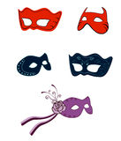 Fantasy fashion masks Stock Image