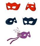 Fantasy fashion masks. A illustration of fantasy fashion masks Stock Image
