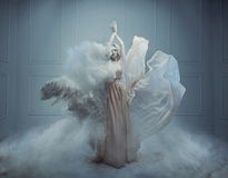 Fantasy fashion style image of a stunning blonde beauty Stock Images