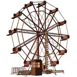 Fantasy ferris wheel. 3D render of a fantasy ferris wheel Royalty Free Stock Photos