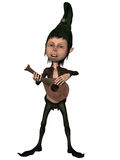 Fantasy Figure. 3d render of a fantasy figure playing a musical instrument Stock Photo