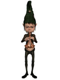 Fantasy Figure. 3d render of a fantasy figure playing a musical instrument Royalty Free Stock Photography