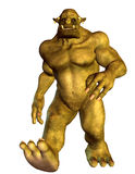 Fantasy figure running Orc. 3D Rendering Fantasy figure running Orc Royalty Free Stock Photo