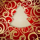 Fantasy fir tree. Fantasy christmas fir tree. Vector illustration Royalty Free Stock Photo