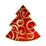 Fantasy fir tree. Fantasy christmas fir tree. Vector illustration Stock Photo